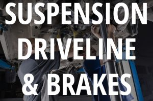 Suspension, Driveline & Brakes